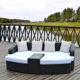 Outdoor furniture garden rattan sofa bed
