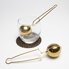 Titanium Gold Plating Snap Style Fine Mesh Stainless Steel Tea Ball Infuser