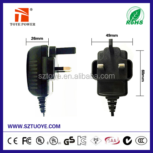 Energy conservation and power saving 12v 2000ma power adapter with UK Plug UL CUL GS CE EM EMC PSE Approval
