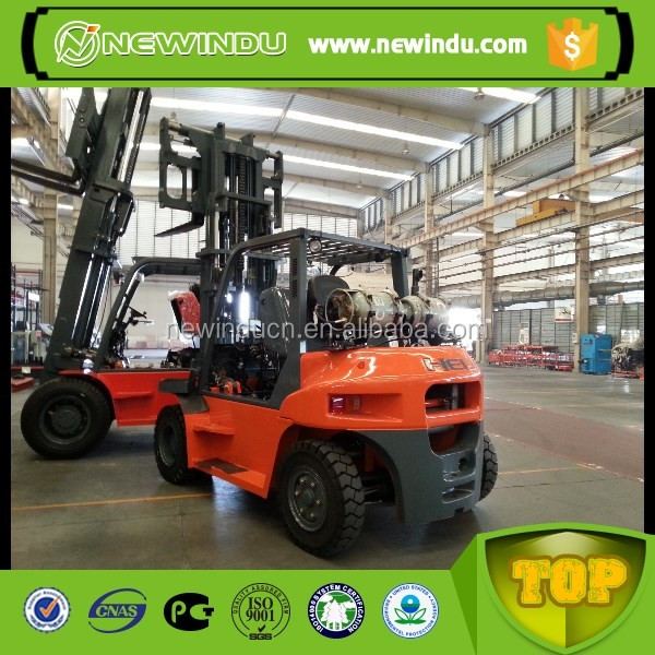 HELI Diesel CPCD100 10 ton forklift for sale attachment in Brazil