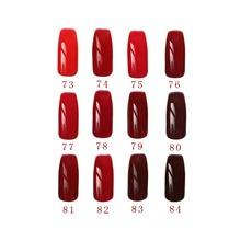 Free shipping Red Wine Series 6 pcs MIJIQUAN Gel Nail Polish 15ml 12 colors for choice
