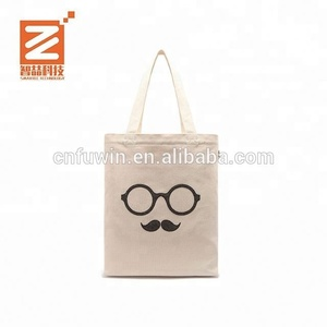 Promotional Blank Natural Cotton Tote Bags Canvas Cotton Shopper Cheap reversible tote bag