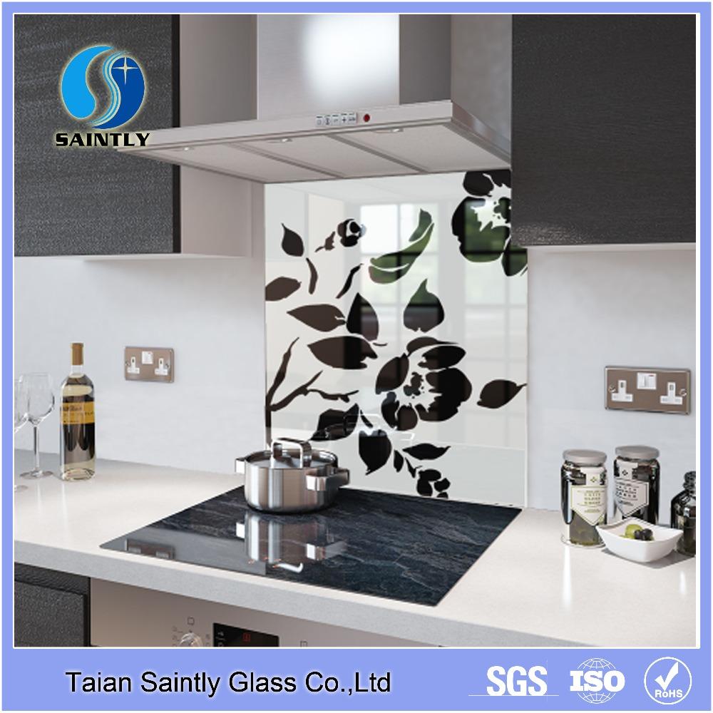 - 4mm5mm Tempered Glass Kitchen Backsplash With Polish Edge - Buy