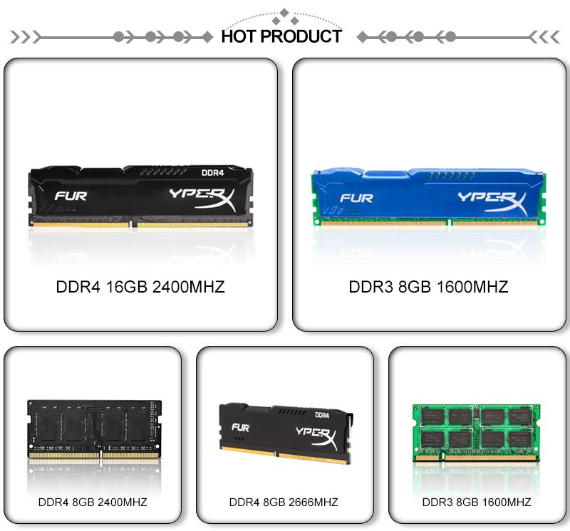 15 Years Factory HX Ram Desktop Ddr4 4gb 8gb 16gb 2666mhz Memory Modules 2400mhz 288pin All Compatible Heatsink Used HX ram