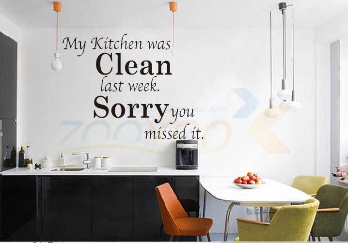 warming kitchen rules home decor creative quote wall decal ZooYoo8072 decorative adesivo de parede removable vinyl wall sticker