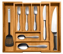 Bamboo Expandable Utility Drawer Kitchen Tool Set Cutlery Tray