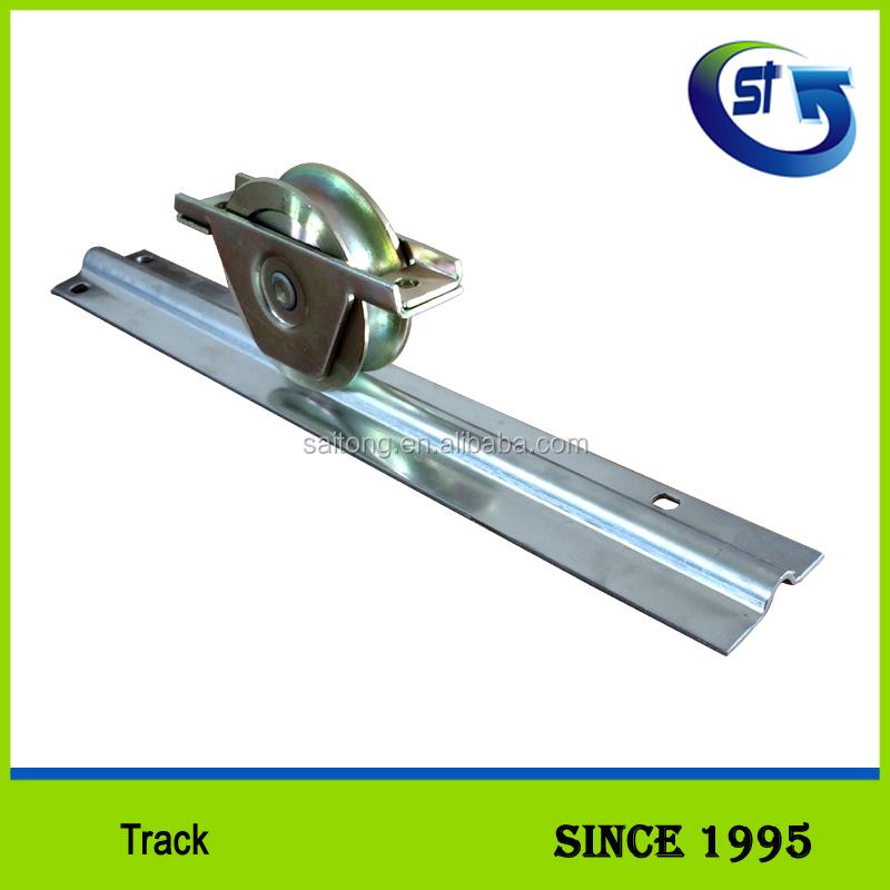 SATIONG Creux U-groove Galvanisé Acier Piste/rail De Guidage Pour Portail  Coulissant WTU8
