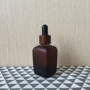 frost square pharmaceutical amber glass bottle GS-0019R