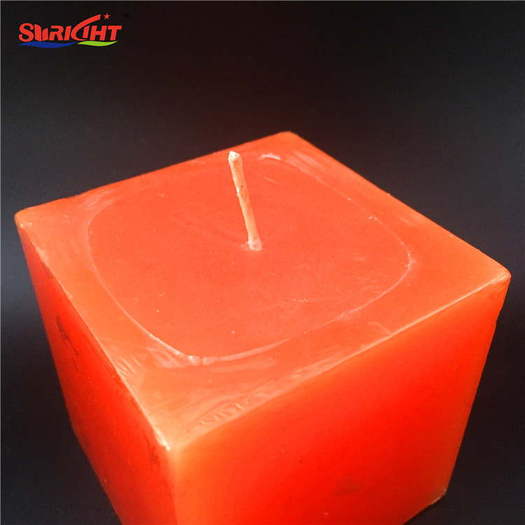 Square Cube Perfumed Art Shink Pack Pillar Decorative Candles