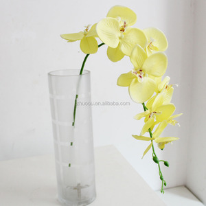 single stem 9 head flowers red white artificial orchid cymbidium orchid flower