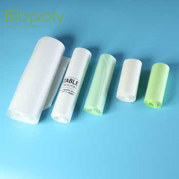 Biopoly biodegradable compostable customized size plastic pla garbage bag with logo