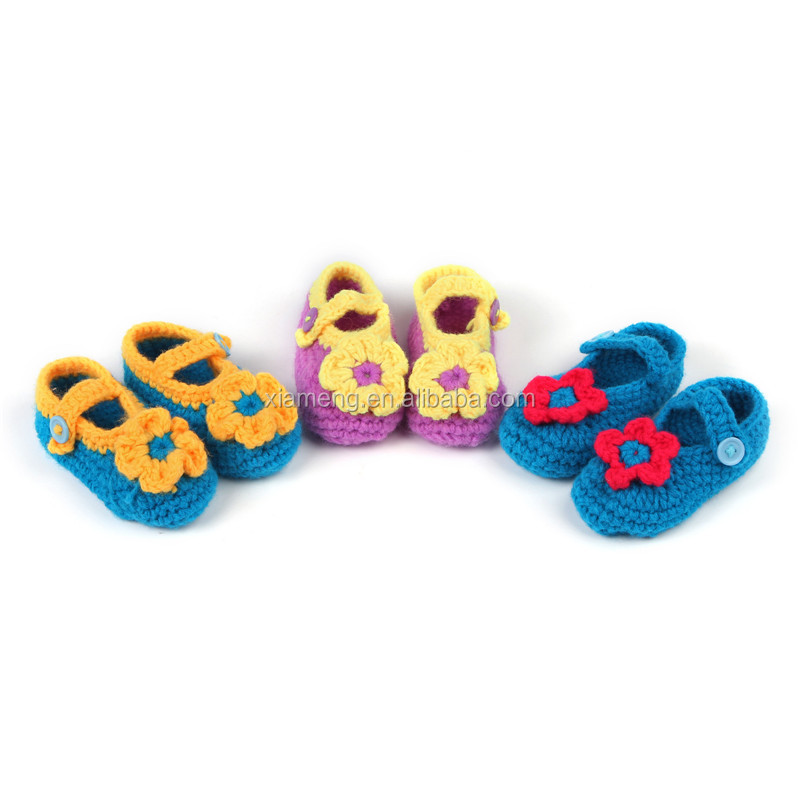 Top selling products unisex kintting baby crochet shoes