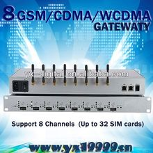 8 ports 32 sims manufacturer voip gateway phone billing meter