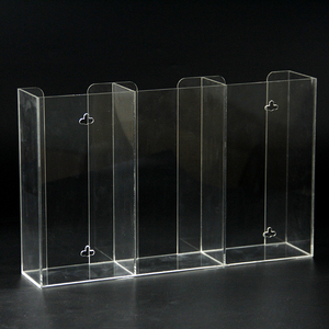 Desktop 3 compartments wine bottle display stand clear acrylic holder for cocktail wine