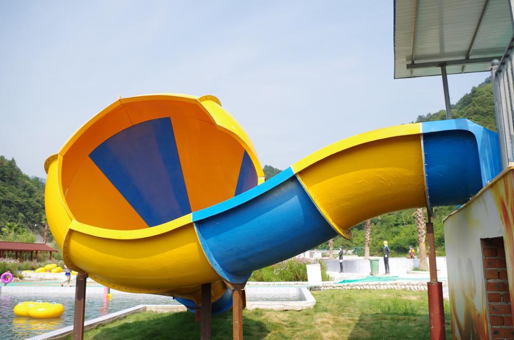 Qingfeng 2017 carton fair giant water park horn slide banzai aqua sports water park water slide
