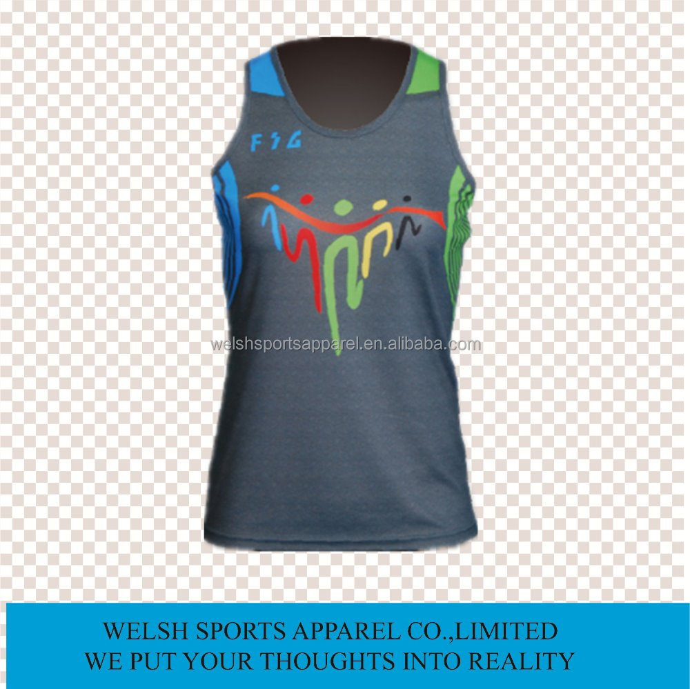 Sublimation Wholesale Jogging Dri Fit Polyester Running Sports Singlets