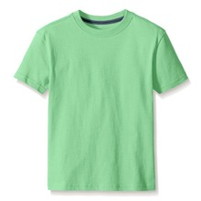 OEM China factory wholesale price fashion children branded slim fit blank t-shirt