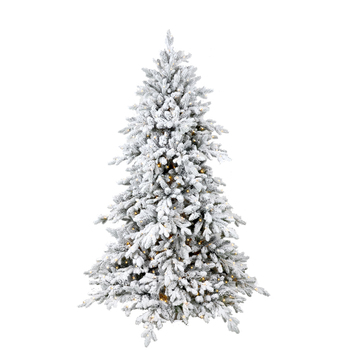 Hot Pre Lit Pe Pvc Artificial Flocked Christmas Tree Buy Led Christmas Tree Tree Christmas Christmas Decor Product On Alibaba Com