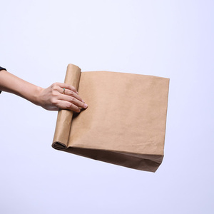 custom tear resistant paper lunch bag washable kraft paper lunch bag