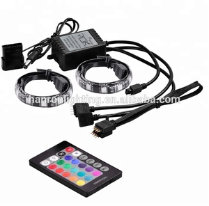Colorful magnet RGB PC LED tape strip light kit for computer case with SATA connector
