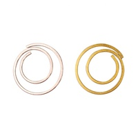 Circle paper clips gold flat metal paper clip customize