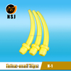 N-1 Yellow disposable oral tip for dental mixing tips