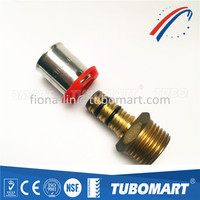 Brass Press Fit Fittings PEX Composite Pipe Press Fittings