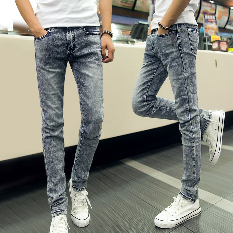 39fd7170d4fc ... spring and autumn fashion slim denim pencil pants girls casual jeans  dark blue black free shipping. US  21.55 piece