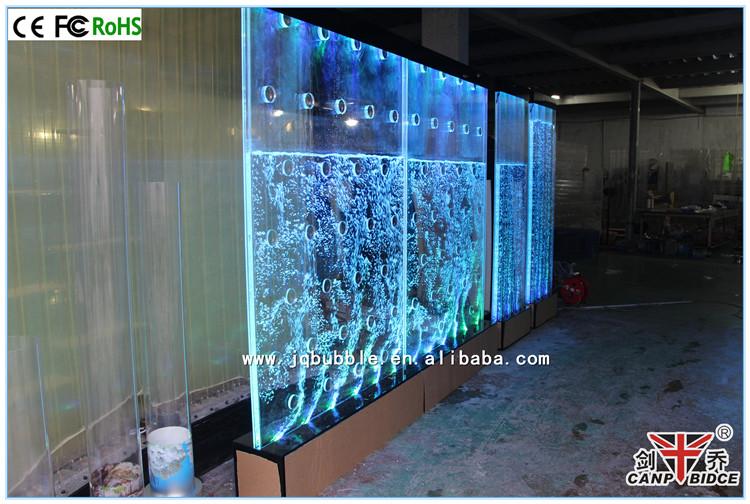 Hotel Decoration Interior Led Aquarium Water Indoor Fountains Wall ...