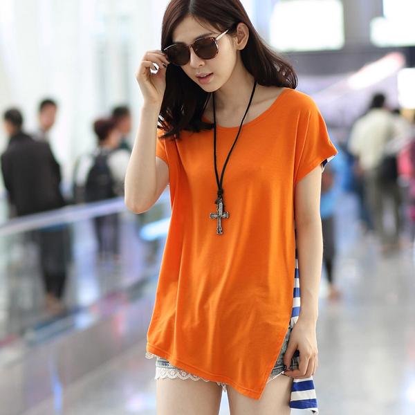 67647e490af Get Quotations · Korean Fashion Clothing Striped Kawaii T Shirt Women Tops  2015 Loose T-shirt Woman Clothes