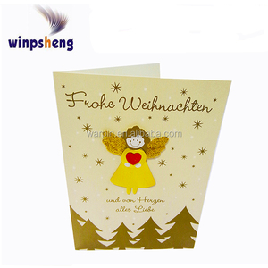 Christmas Holiday Traditional Greeting Cards with hot foil and glitter