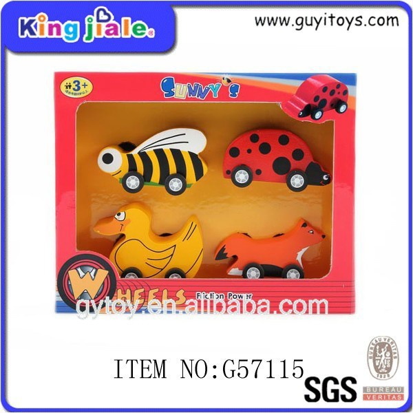 Hot selling new design funny model car wooden baby toys