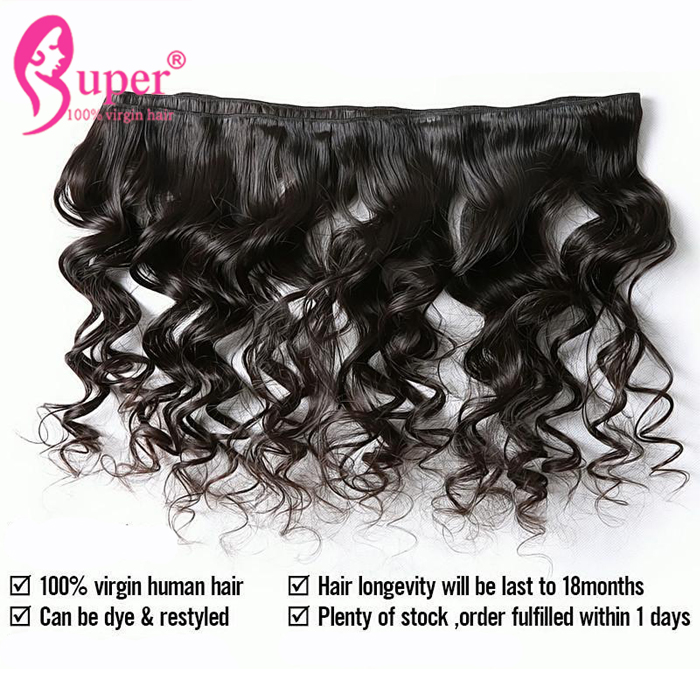 Natural Color Real Tangle Free Brazilian Loose Wave Virgin Human Hair Weave Extensions Manufacturers Styles