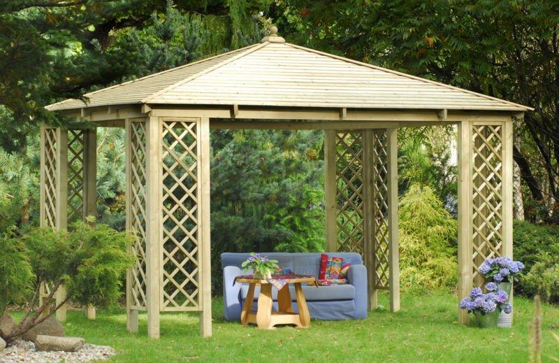 En bois pavillon de jardin outils de jardin id de produit for Pavillon jardin bois