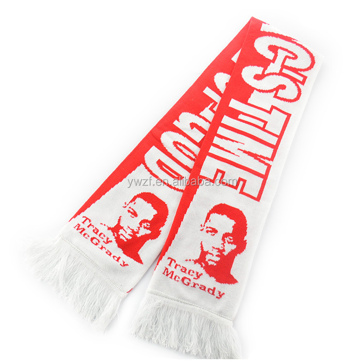 Knit Scarves sports basketball hockey fans cheer scarves