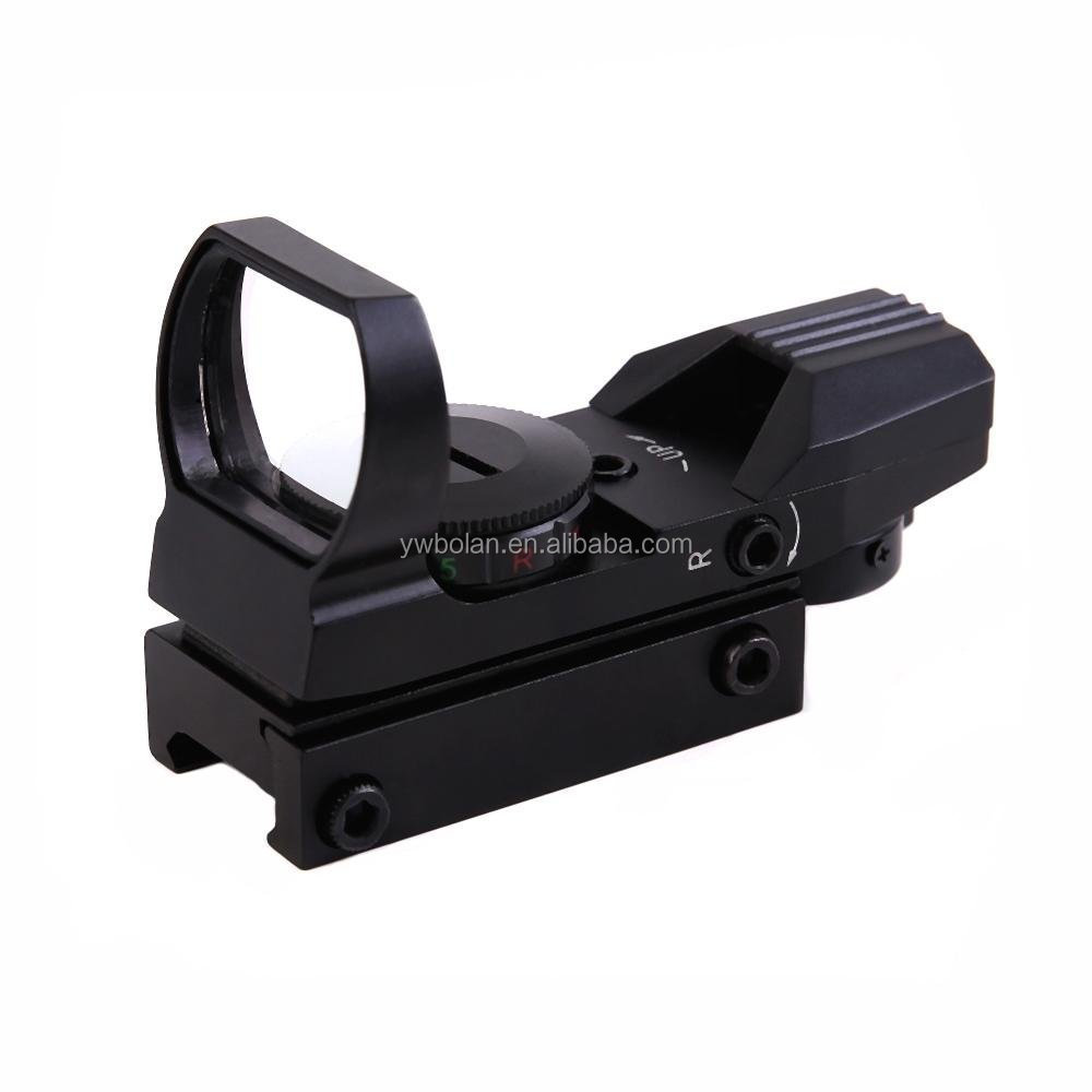 20mm Rail tactical red dot laser sight with 4 Reticles red dot reflex sight, Black