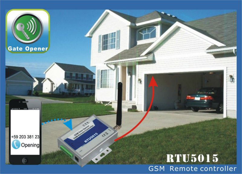 GSM garage door opener RTU 5015 Android App GSM access control for Garage and gate automation alarm , Electric Fencing Equipment