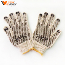 PVC Dotted Working Gloves/White PVC Dotted Cotton Gloves /PVC Coated String Knit Gloves