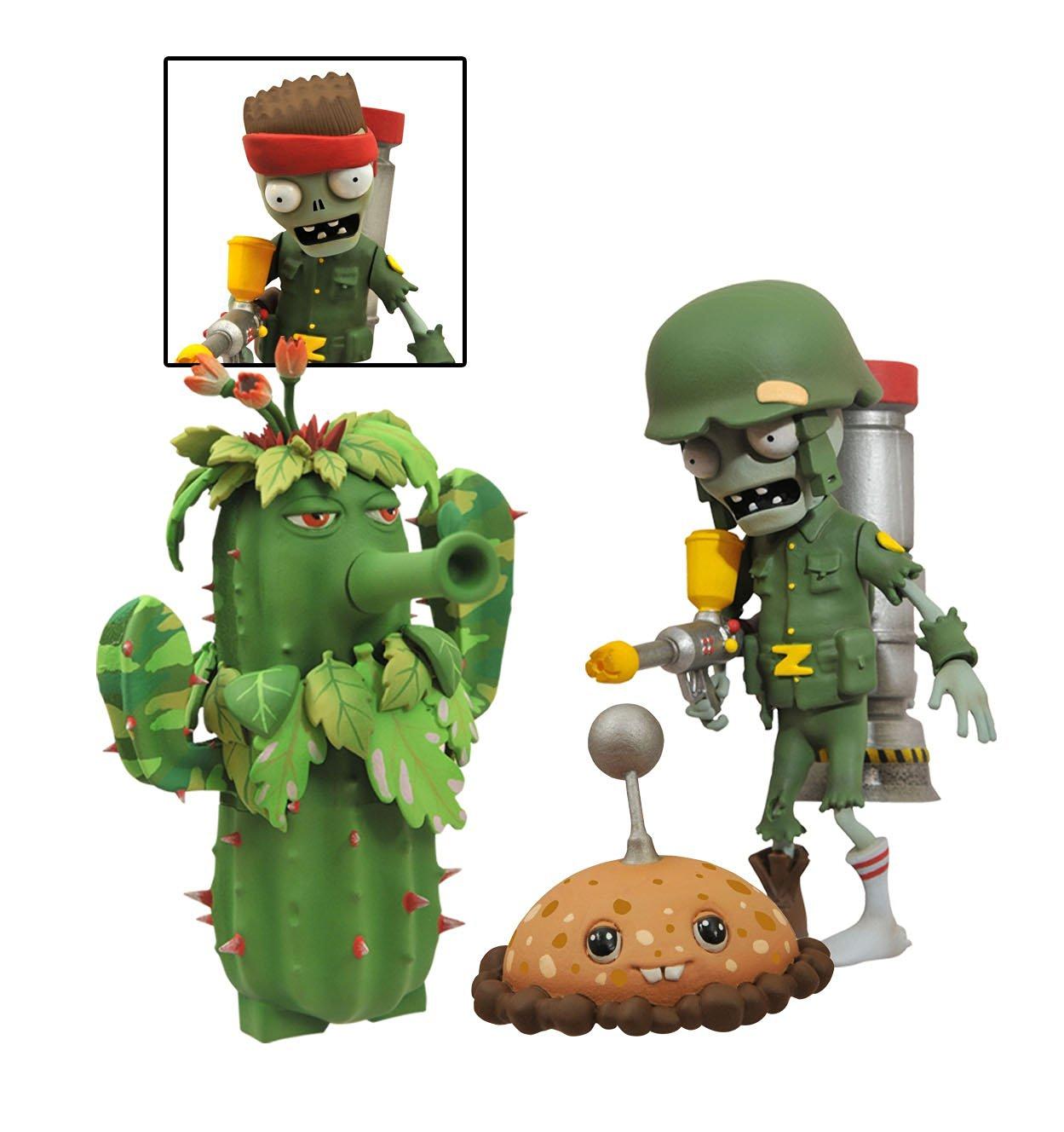 Diamond Select Toys Plants Vs Zombies Garden Warfare Foot Solr Zombie Camo