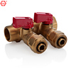 GA/QIAI BRAND BRASS FITTING 2 WAY WATER SEPARATOR