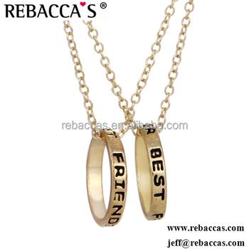 9db96d5a2178d Jóias de ouro personalizado melhores amigos para sempre anel de amizade  colares