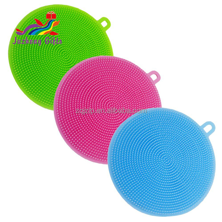 Hot Sales BPA free Colorful Silicone Cleaning Sponges Silicone Dish Washing Scrubbers