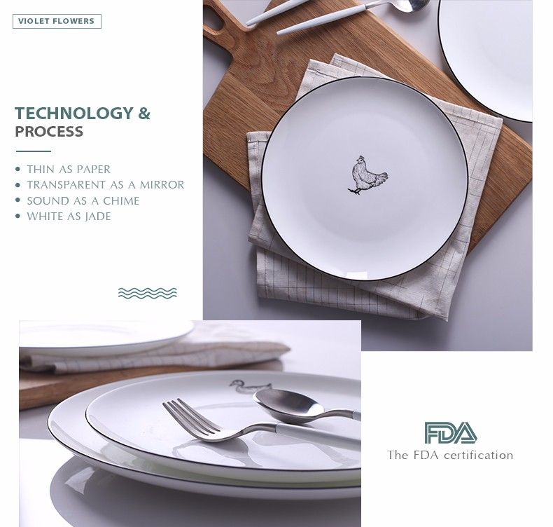Porcelain white hotel or home used types catering dinner plates with animal pattern  sc 1 st  Alibaba & Porcelain White Hotel Or Home Used Types Catering Dinner Plates With ...