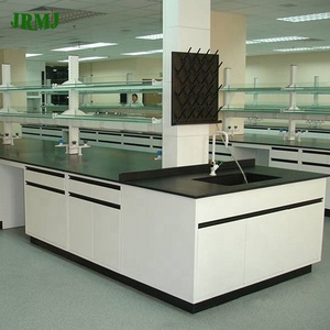 Laboratory Furniture Chemical Resistant Workstation for Chemistry Lab island bench wall bench