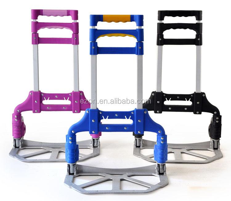 Portable Aluminum Folding Luggage Trolley Cart,Shopping Foldable ...
