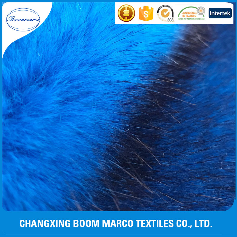 high quality 100% polyester synthetic fur plush fabric for women trim winter coat,car seat,carpet