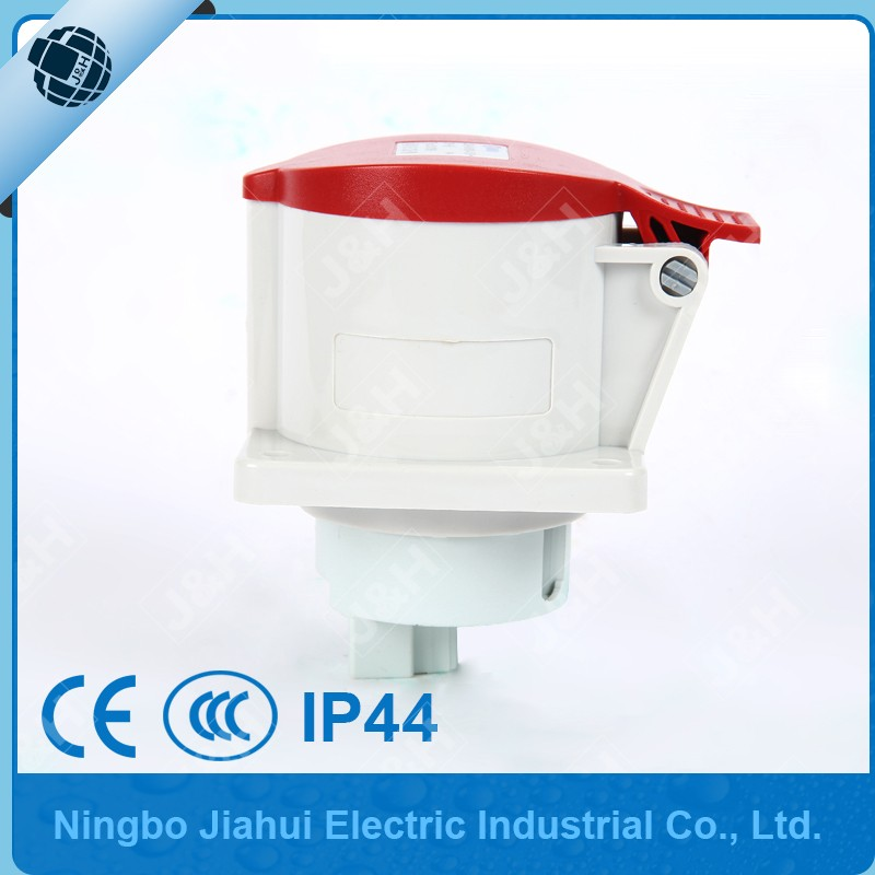 European  waterproof 4P 32A IP44 socket, outdoor industrial female plug