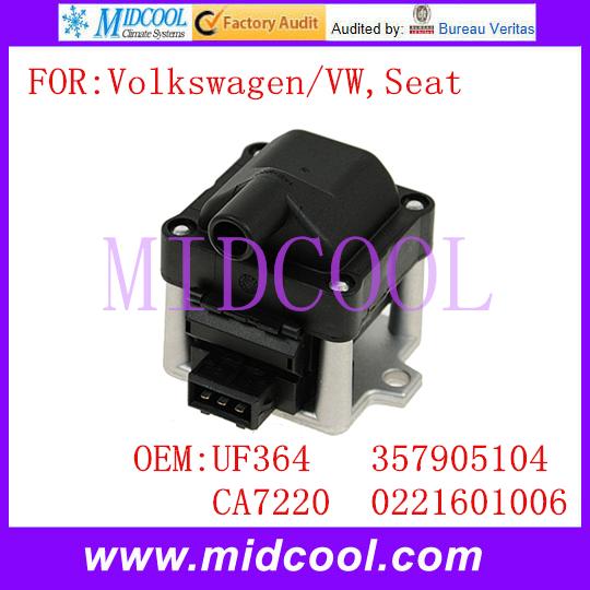 Новый катушка зажигания использования OE no. Uf364, Ca7220, 357905104, 0221601006 для Volkswagen VW сиденья