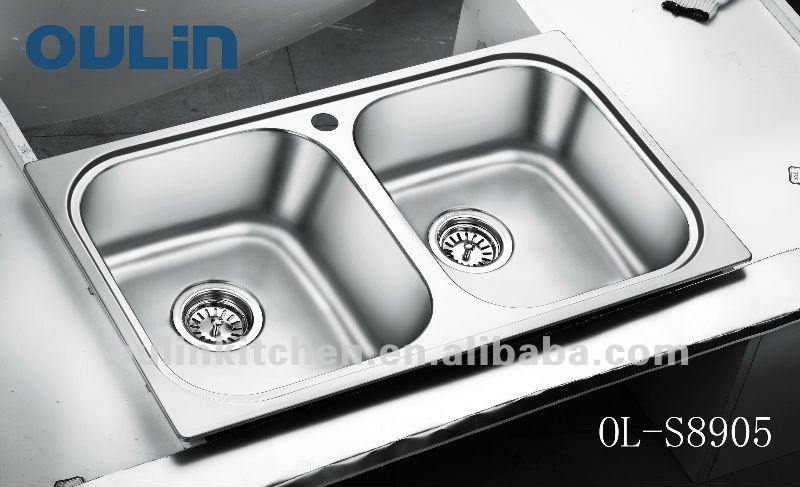 oulin kitchen washing basin stainless steel sink double bowl ol s8905 buy kitchen washing basinsinkstainless steel sink product on alibabacom - Kitchen Basin Sinks