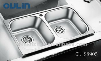 Charmant OULIN Kitchen Washing Basin Stainless Steel Sink Double Bowl (OL S8905)